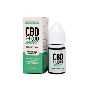 Regular Strength Broad Spectrum CBD E-Liquid mint