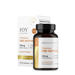 Joy Organics CBD Softgels with Curcumin