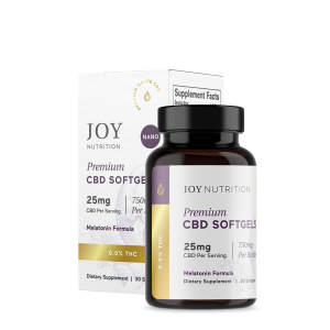 Joy Organics CBD Softgels with Melatonin for Sleep