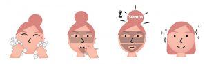 facial mask directions