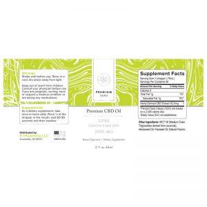 Premium Jane CBD Tincture Luxe Lemon Lime
