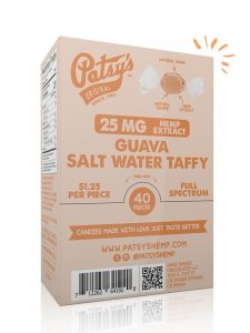 Patsys Hemp Guava Salt Water Taffy
