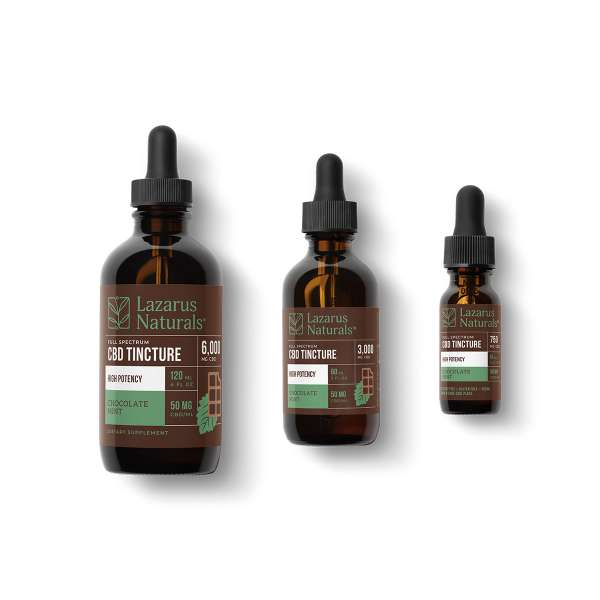 Lazarus Naturals CBD Tincture High Potency Chocolate Mint