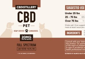 CBD Pet Tincture – 600mg – 30ml
