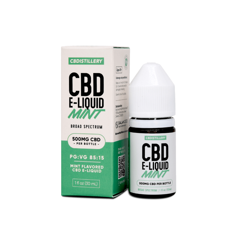 Regular Strength Broad Spectrum CBD E-Liquid – 500mg – Mint