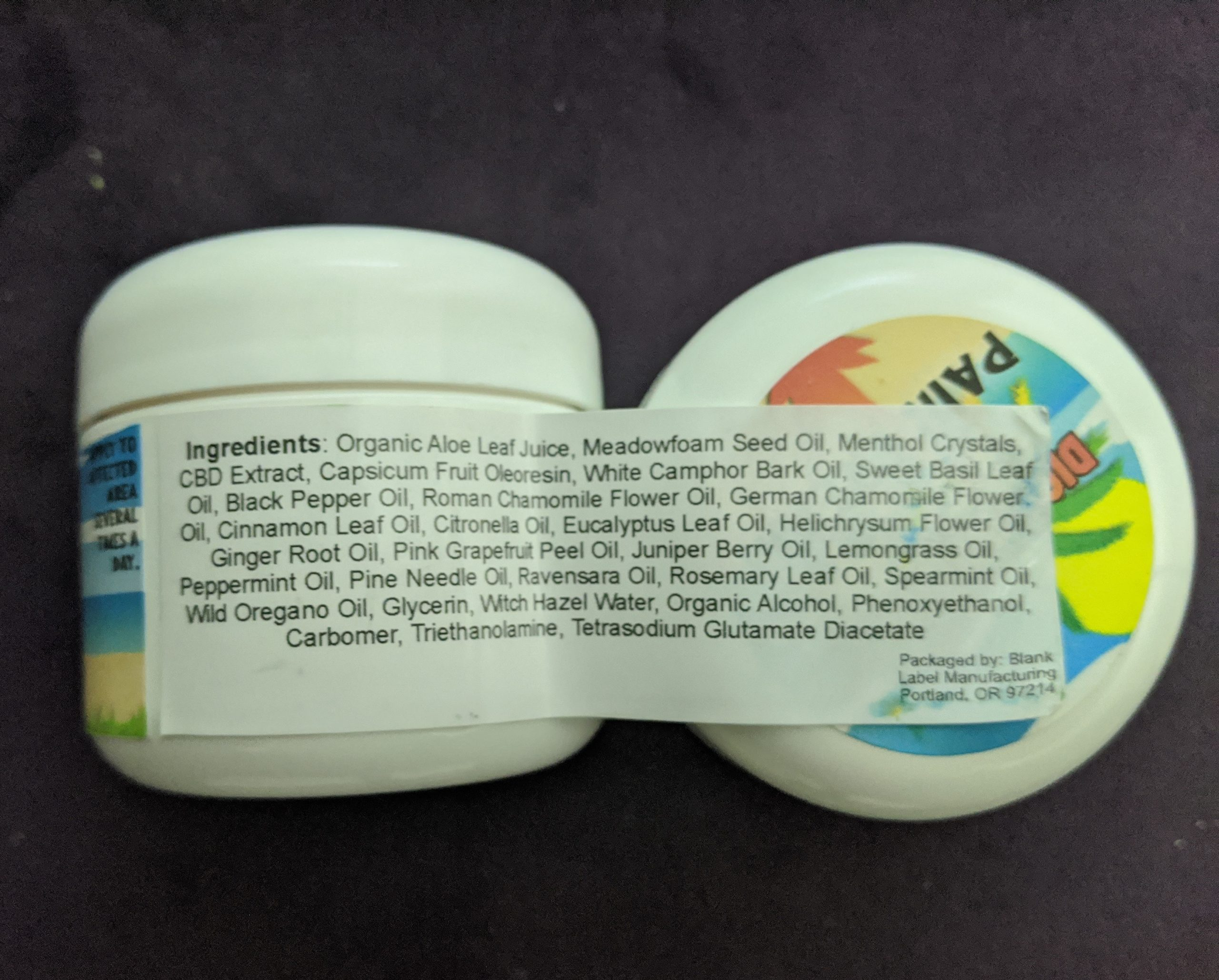 Hemp Pain Cream 500 MG by Diamond Head