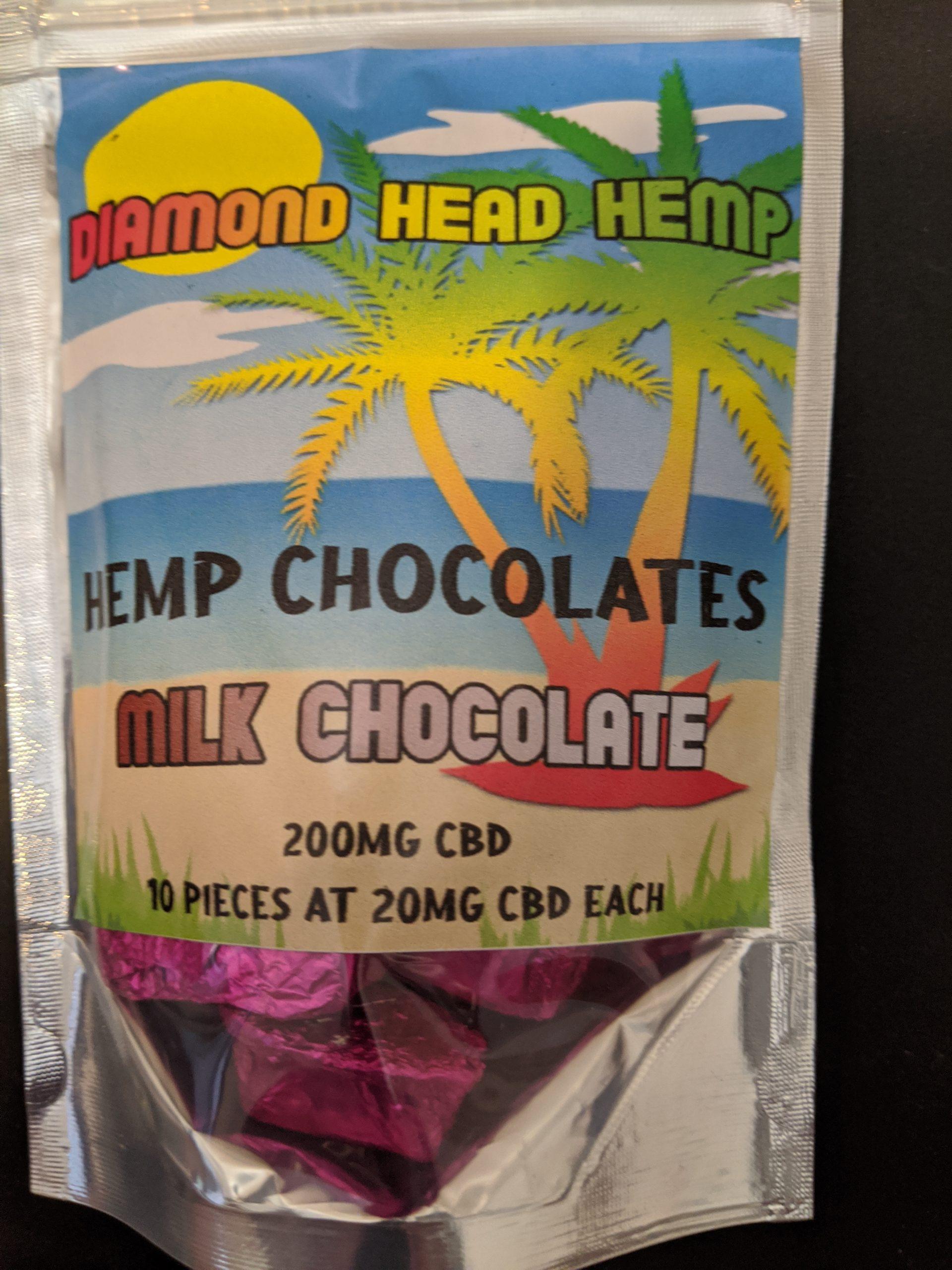 CBD Milk Chocolate Pieces by Diamond Head