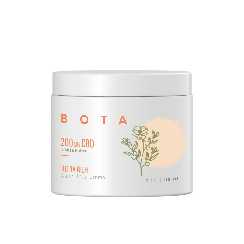 Ultra Rich Satin Body Crème + Shea Butter - 200 mg CBD (4 oz)
