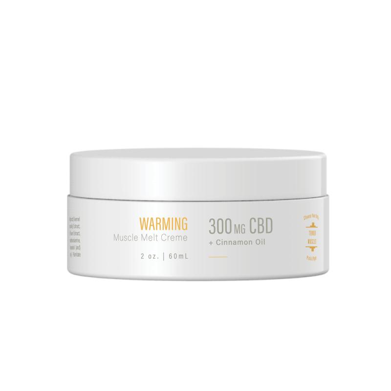 Calming & Warming Muscle Melt Crème - 300mg CBD, 2oz