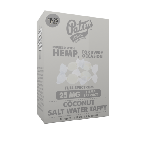 Patsys Hemp Coconut Salt Water Taffy