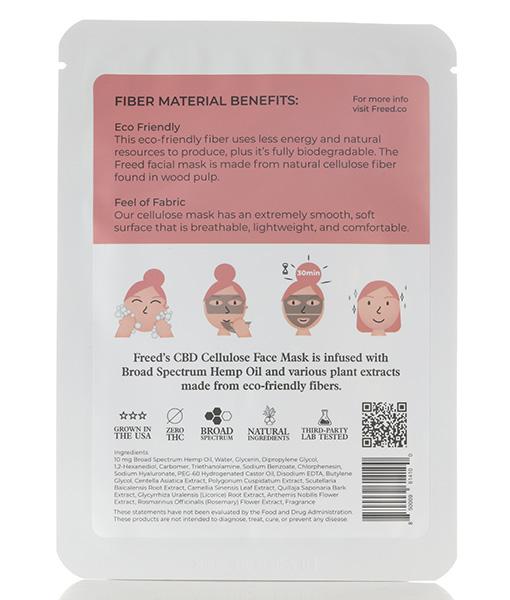 Freed CBD Cellulose Facial Mask
