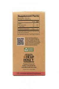 Colorado Hemp Honey Ginger Soothe Sticks 100 Ct