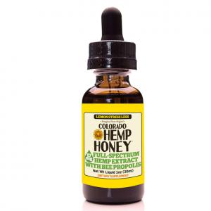 Colorado Hemp Honey Tincture Lemon