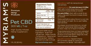 Myriams Premium Hemp PET CBD