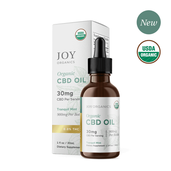 Joy Organics CBD Oil Tinctures Tranquil Mint
