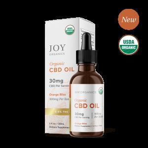 Joy Organics CBD Oil Tinctures Orange Bliss