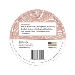 bath bomb almond label 2