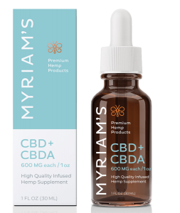 Myriams Premium Hemp CBD+CBDA Oil