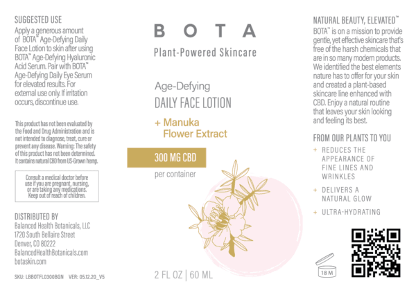 Age Defying Daily Face Lotionlabel