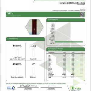 Bloomble THCV Laboratory Test