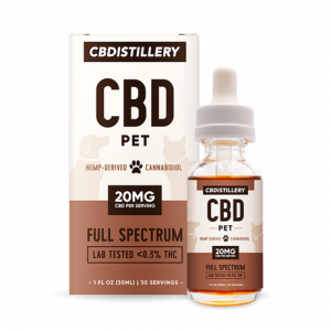 CBDistillery Pet Tincture – 600mg – 30ml