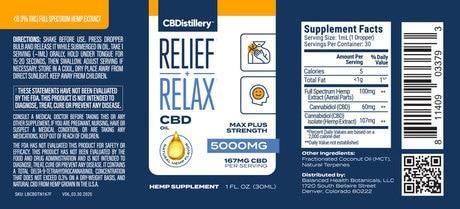 CBDistillery 5000MG FSO Tincture Label  10828.1589274011