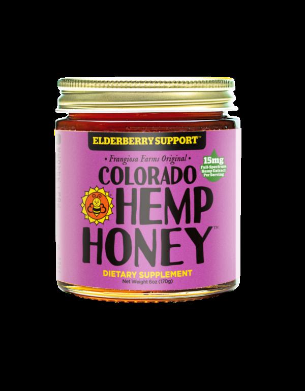 Colorado Hemp Honey ELDERBERRY SUPPORT JARS