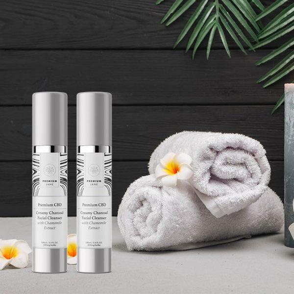 Premium Jane CBD Creamy Cleanser-Charcoal Facial – 200 mg CBD