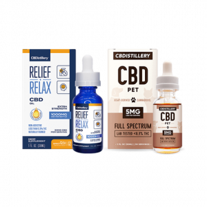 cbdistillery com Man's Best Friend CBD Oil Pack - 1000mg Tincture - 150mg Pet Tincture