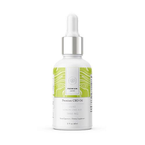 Premium Jane CBD Tincture Luxe Lemon Lime 5000 mg – 2 oz / 60mL