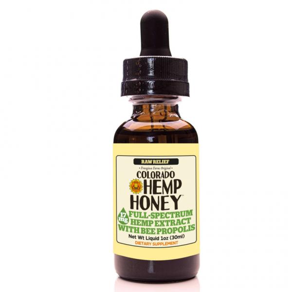 Colorado Hemp Honey Tinctures Raw Relief 1 OZ