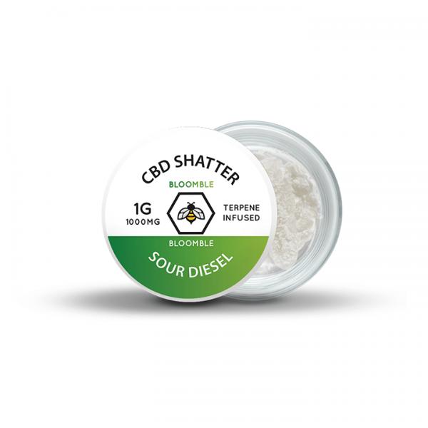 Bloomble CBD Shatter – Sour Diesel