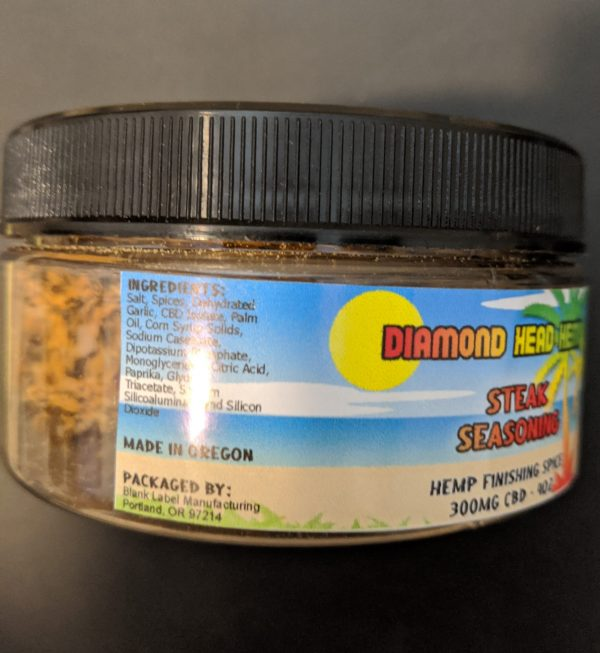 CBD Steak Seasoning CBD Infused By Diamond Head