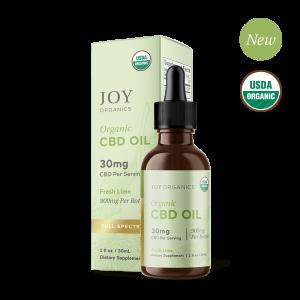 Joy Organics CBD Oil Tinctures Fresh Lime