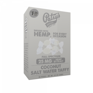 Patsys Hemp Coconut Salt Water Taffy