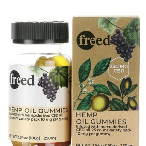 freed cbd gummies 25 count bottle with packaging