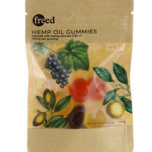 freed cbd hemp oil gummies 5 pack