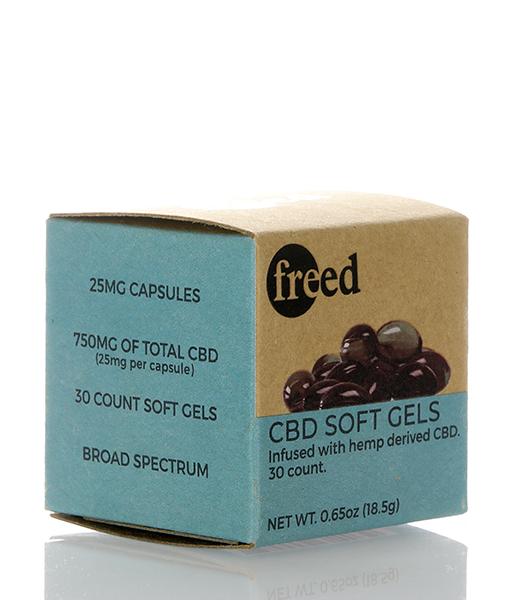 freed cbd softgel capsules 750mg 30 count box 021