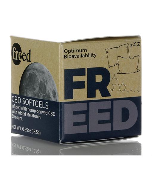 freed cbd softgels with melatonin box 02 11