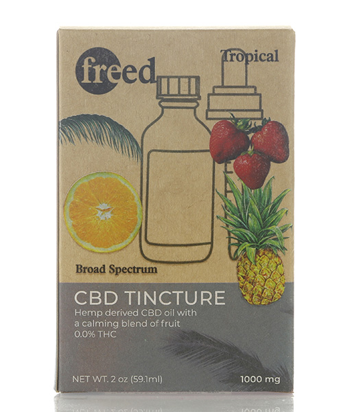 Freed CBD Tinctures Tropical Flavor 30ml