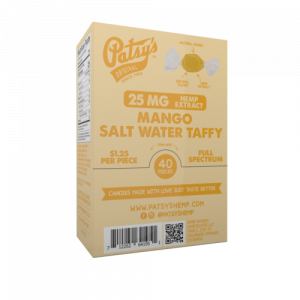 Patsys Hemp Mango Salt Water Taffy
