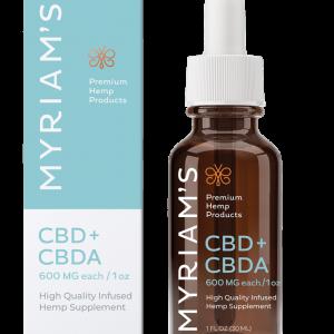 Myriams Premium Hemp CBD+CBDA Oil