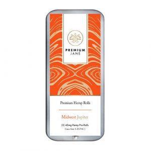 Premium Jane Hemp Pre Rolls Midwest Jupiter/Cherry Limeade 45mg