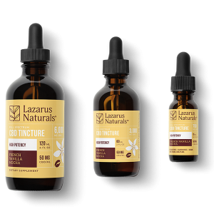 Lazarus CBD Tincture High Potency French Vanilla Mocha