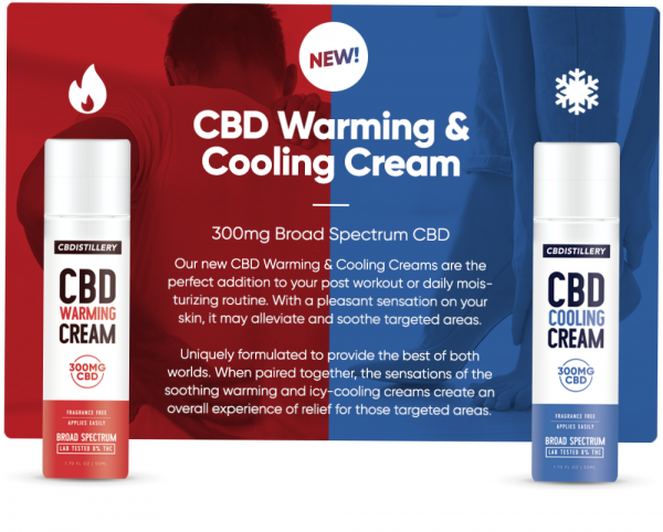 CBDistillery CBD Warming and Cream Broad Spectrum