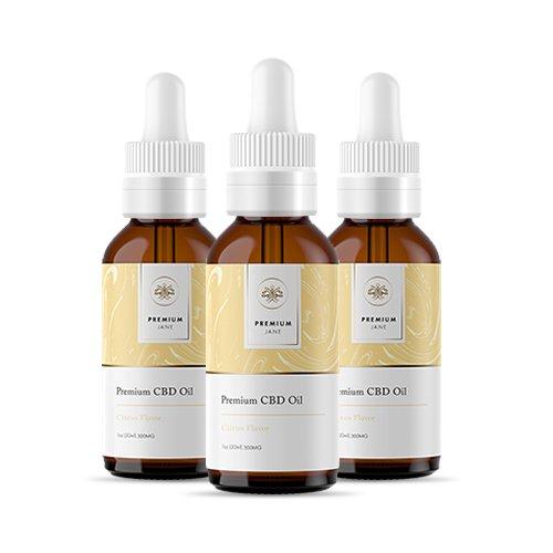 Premium Jane Citrus CBD Tincture 3 Pack