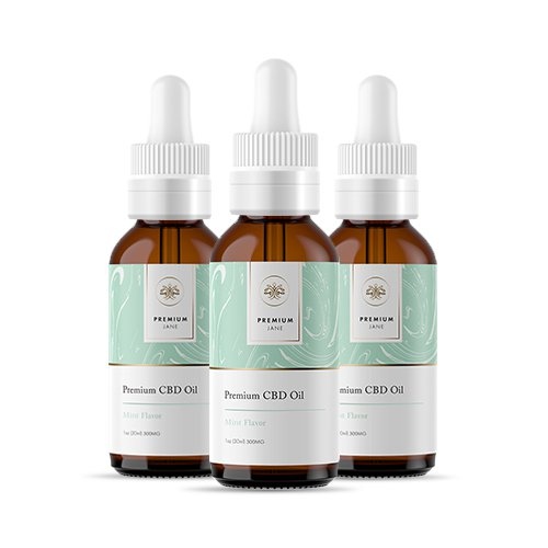 Premium Jane Mint CBD Tincture 3 Pack