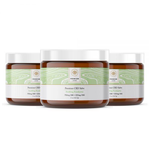 Premium Jane Eucalyptus CBD Topical Salve 3 Pack