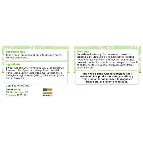 pj topical eucalyptus label
