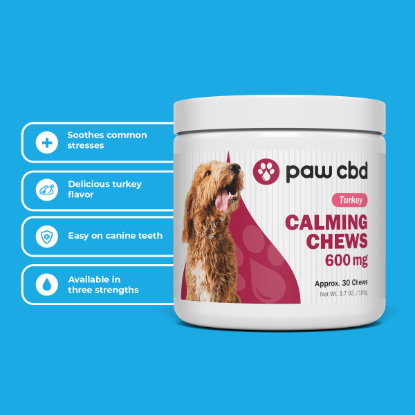 CBD Pet Calming Soft Chews for Dogs TURKEY - 150/300/600 MG - 30 COUNT